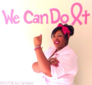 In honor of Breast Cancer Awareness month, I recreated the infamous Rosie the Riveter poster.